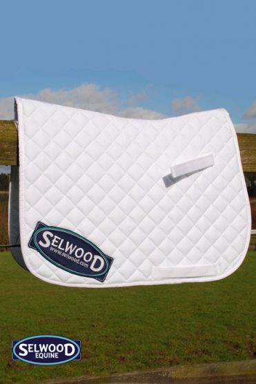 Selwood White Saddlecloth