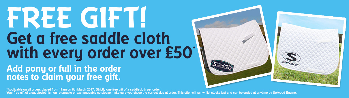 Get a free saddlecloth with overs over £50*